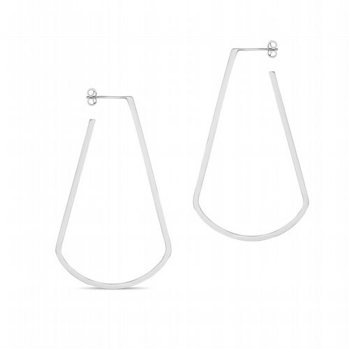 AMAI Jewellery - Tear Drop Hoop Earings - Silver